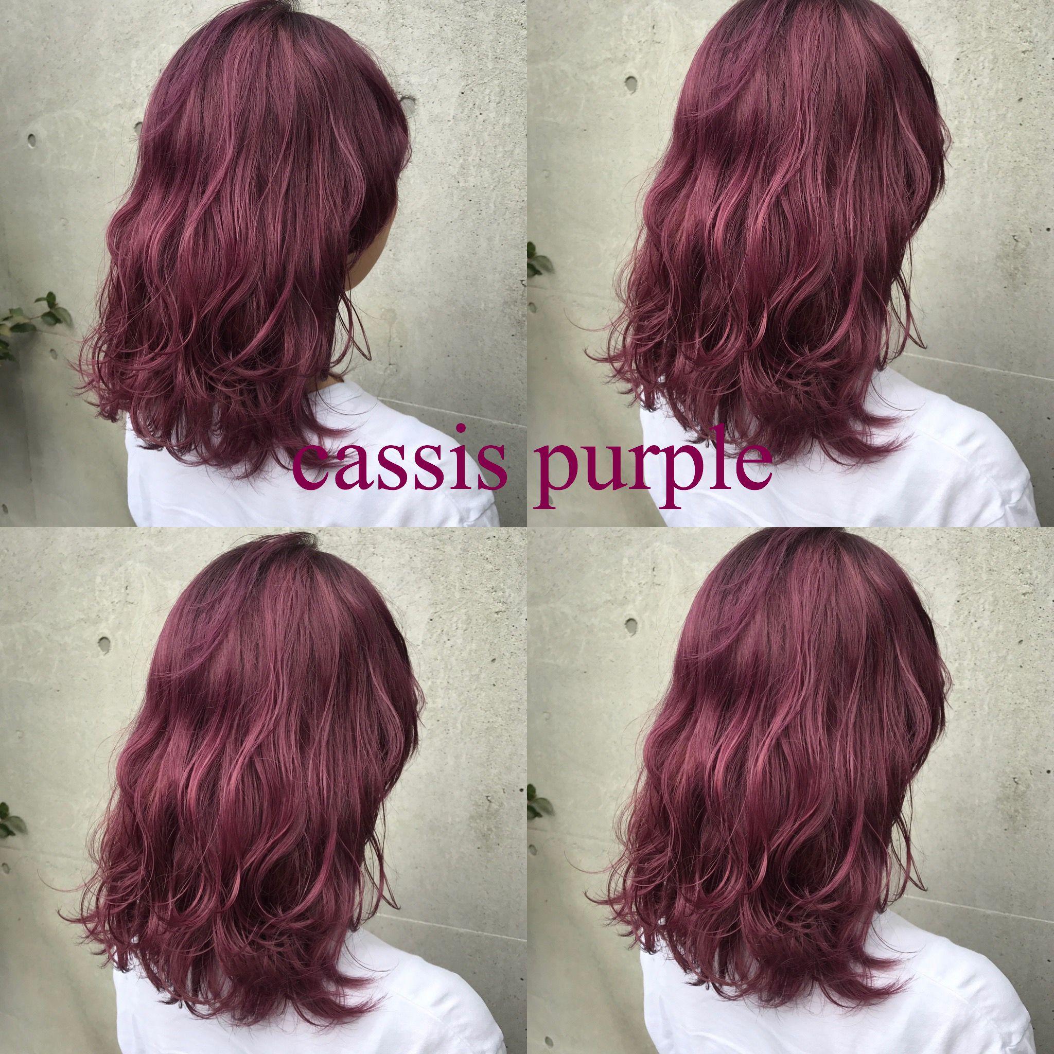 Flowers矢野 Cassis Purple カシスカラー ボルドーカラー ピンクカラー 切りっぱなしボブ グレージュカラー インナーピンク オリーブベージュ ピンクベージュ ブリーチカラー