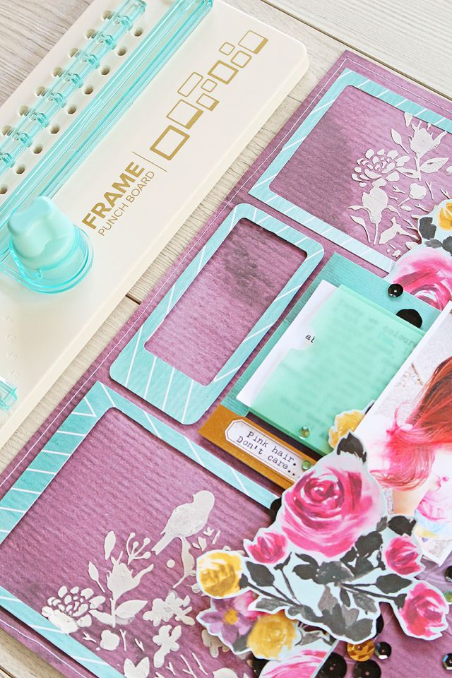 Frame Punch Board Scrapbook Layout Frame Punch Board
