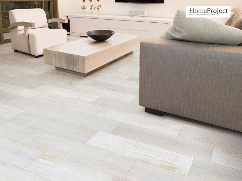 Carrelage imitation parquet savoia listone classico bianco antico 15 x 60 cm homeproject for Carrelage immitation parquet
