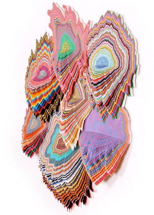 Jen Stark-cut paper