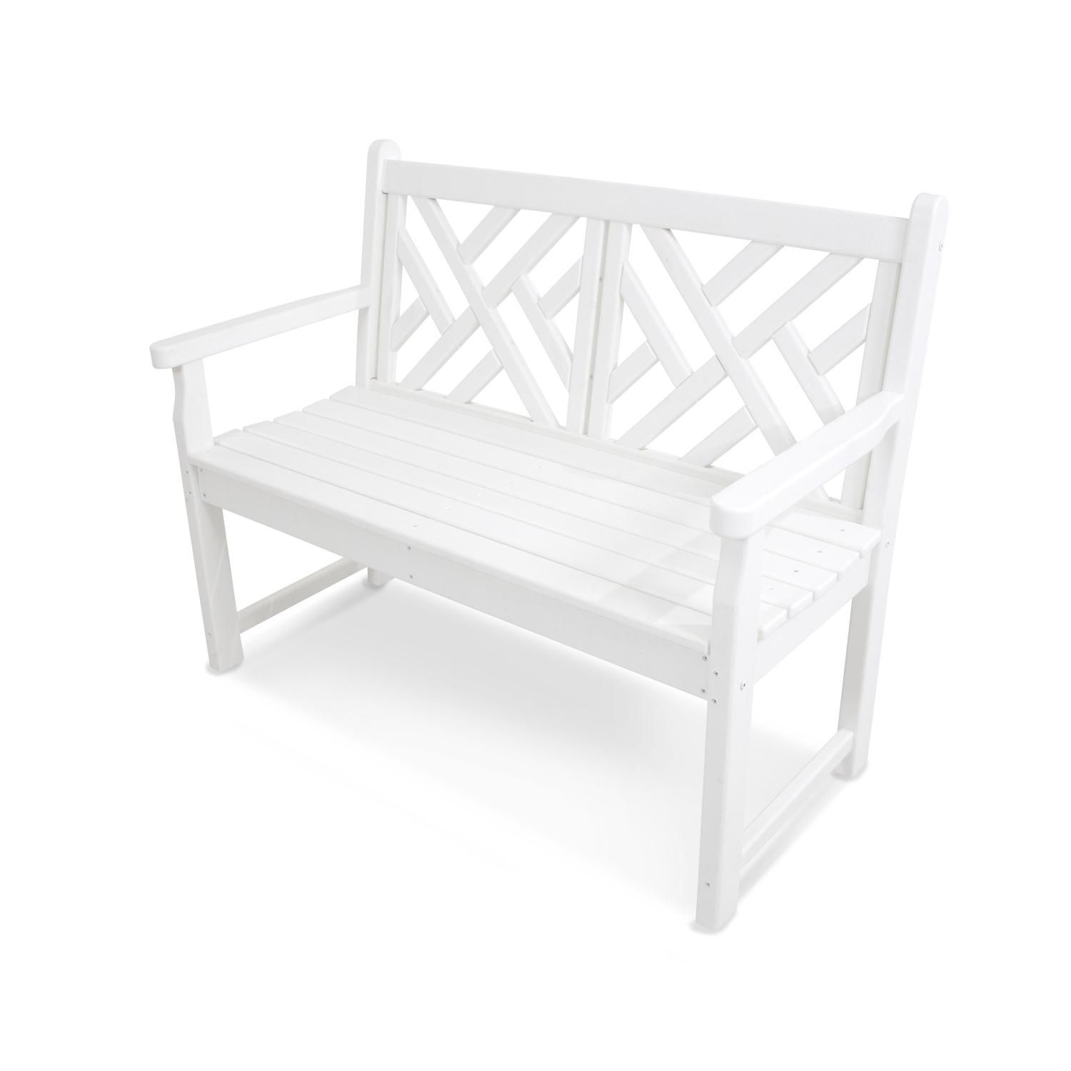 Excellent Polywood Chippendale White Recycled Plastic Wood 48 Inch Pdpeps Interior Chair Design Pdpepsorg