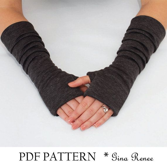 Fingerless Gloves Pattern with Pleats. PDF Glove Sewing Pattern. on ...