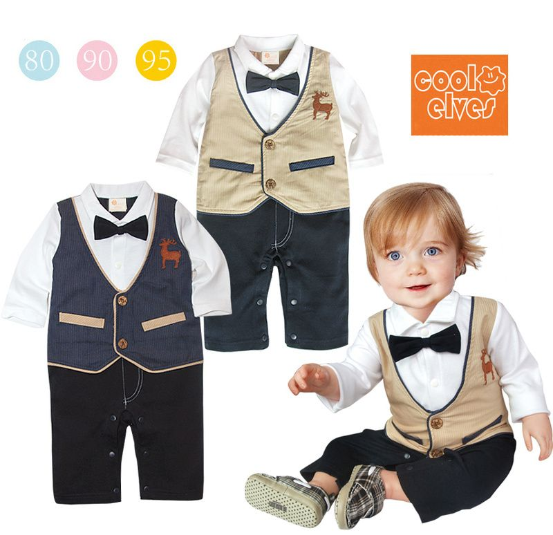 c2025aae79ea Baby boy clothes spring summer 1 - 2 years old boys clothing formal dress  romper open file bodysuit