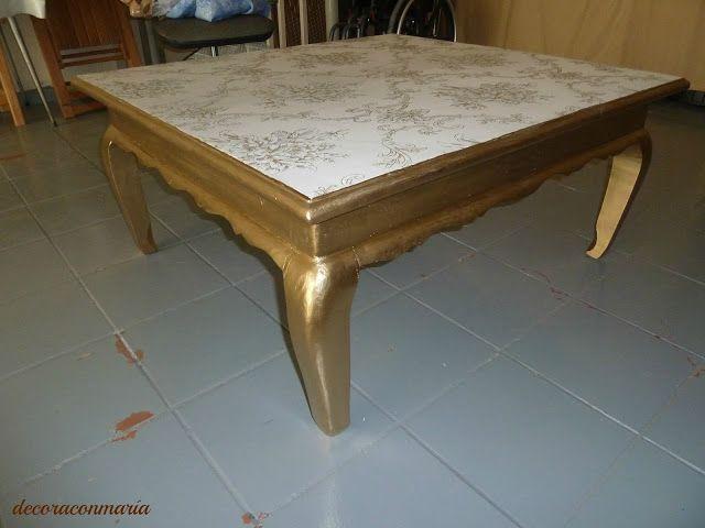 decoraconmaría: de mesa de comedor a mesa de centro | Bricolaje ...
