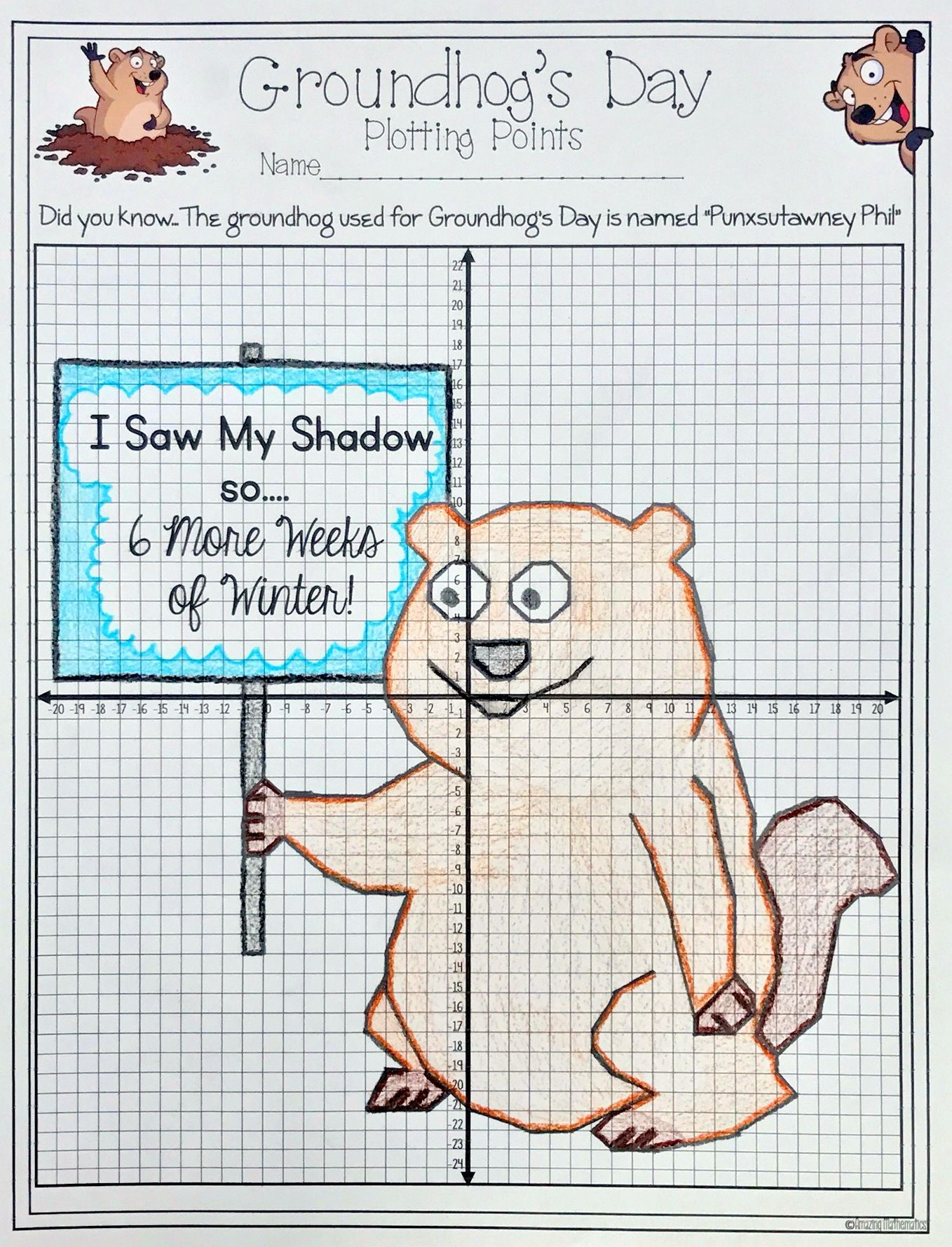 Such Fun Activity For Groundhog S Day In A Math Classroom