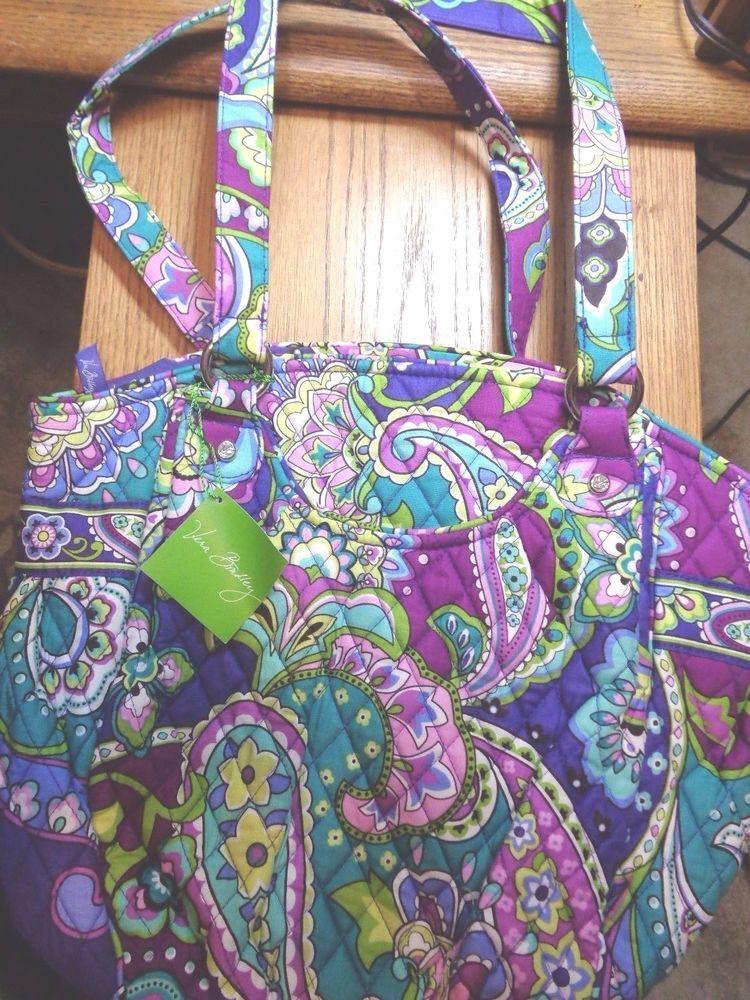 New Vera Bradley Glenna Heather Purse Tote Shoulder Bag Retired Nwt Verabradley