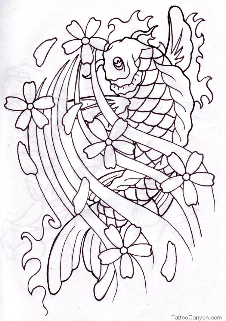 Pisces outline tattoo stencil fresh 2017 tattoos ideas for Koi fish outline