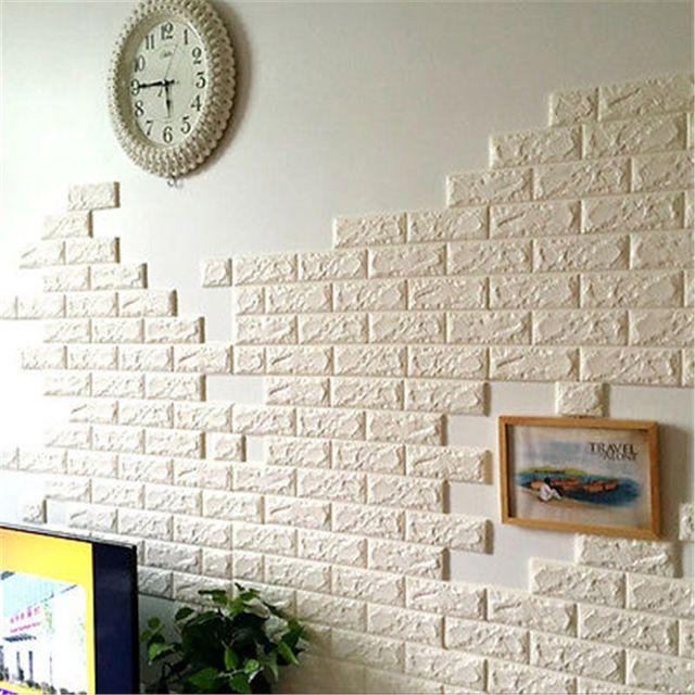 60X60 Cm Pierre Brique Motif 3D Blanc Texturé PE Mousse Papier Peint  Auto Adhésif | Home Sweet Home | Pinterest | Brick Patterns, White Texture  And Adhesive