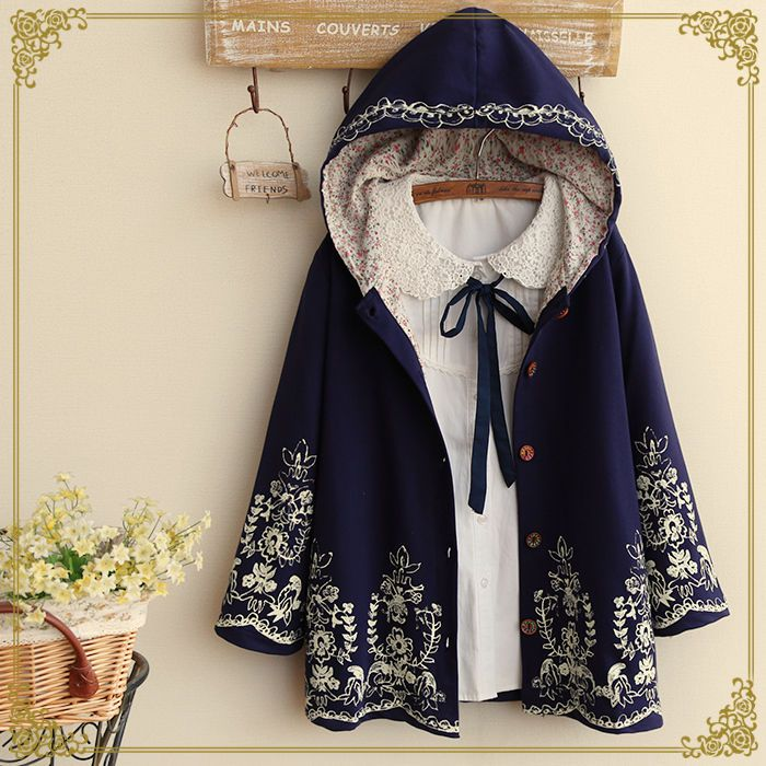 Winter Vintage Japanese Preppy Style Sweet Loose Mori Girl Cardigan Coat Tops