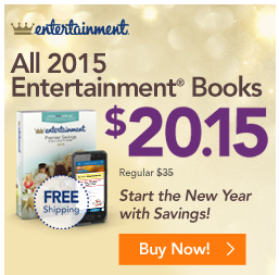 My family uses our #Entertainmentbook all the time when we go out. Usually, I will plan a dinner or #familyfunnight based on the #coupons in the book and we always have a great time! Get your copy of an Entertainment Books ONLY $20.15!