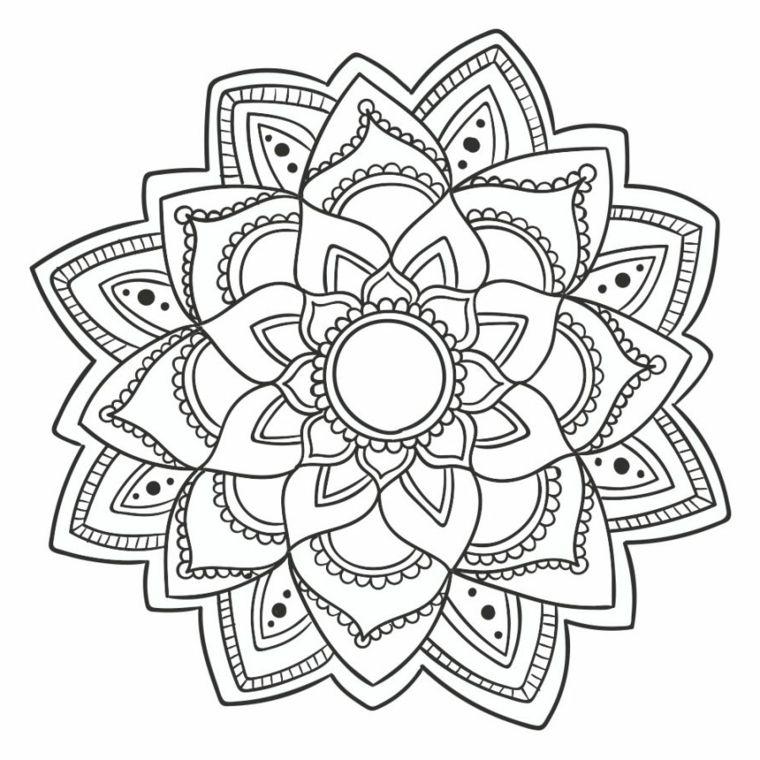 Favorito ▷ 1001 + Idee per Mandala da colorare con simbologia | Disegni da TV36