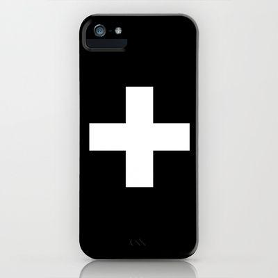 white plus iPhone & iPod Case