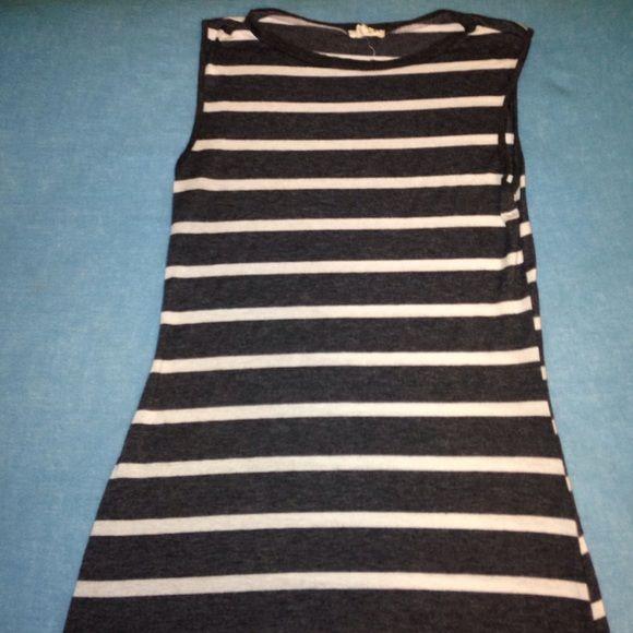 Long summer dress Grey and white summer dress sleeveless Dresses Maxi