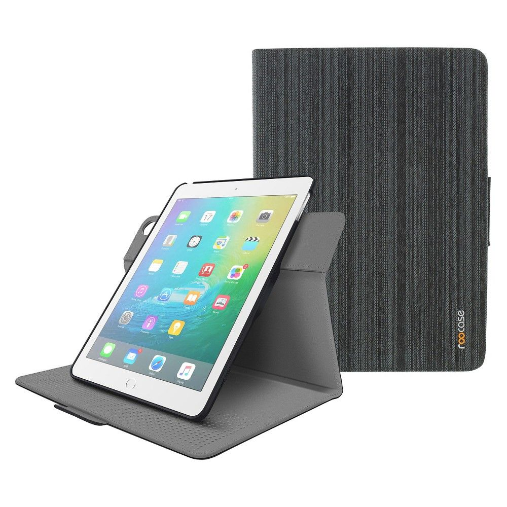 Roocase iPad Air 2 Orb Folio Case - Canvas Black