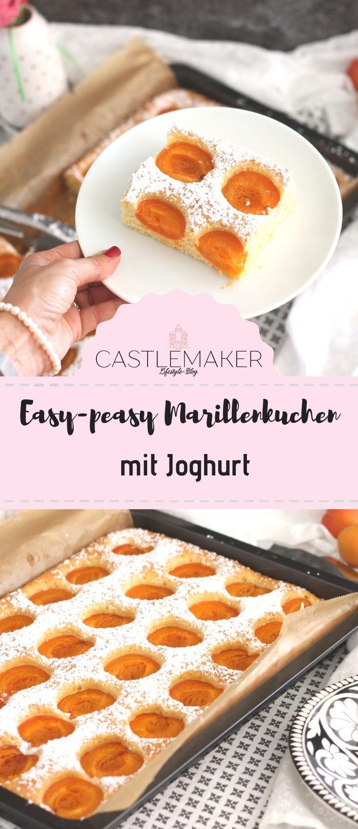 Einfacher Aprikosenkuchen mit Joghurt - Marillenkuchen vom Blech « Castlemaker