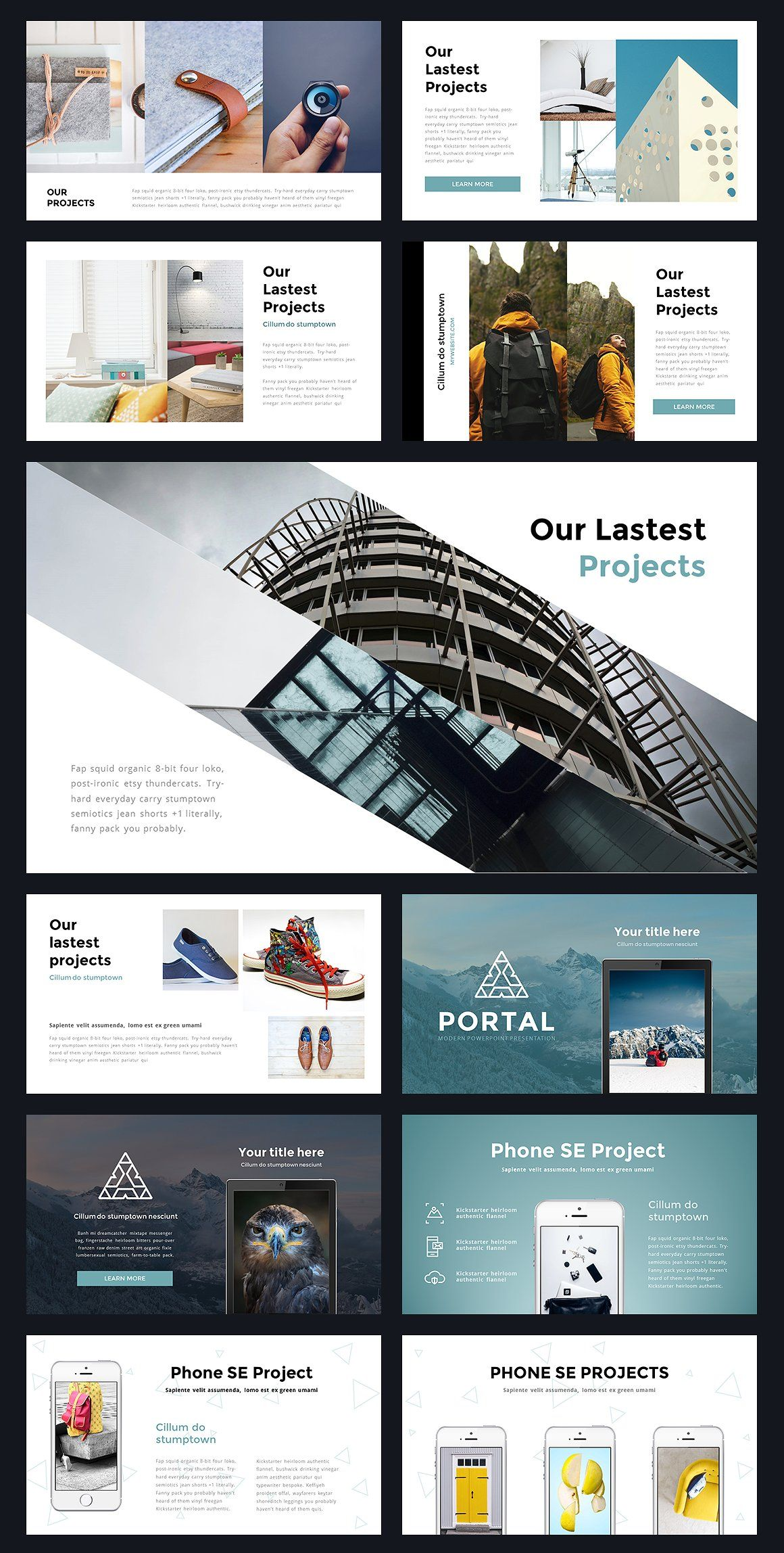 portal modern powerpoint template by reshapely on