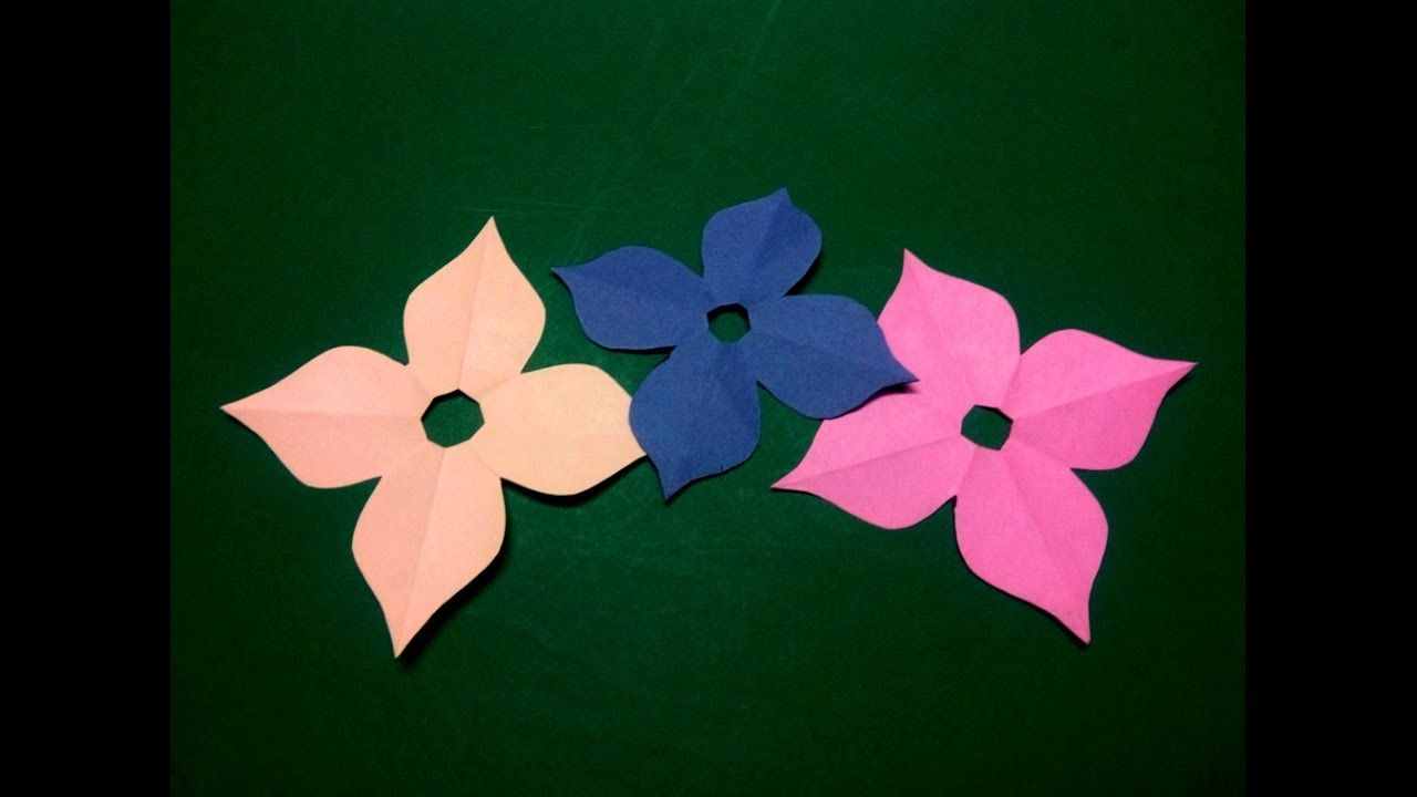 How To Make Simple Easy Paper Flower 4 Kirigami Paper