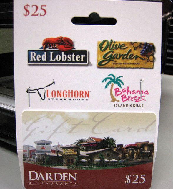 Get A 500 Olive Garden Red Lobster Or Longhorn Gift Card Olive