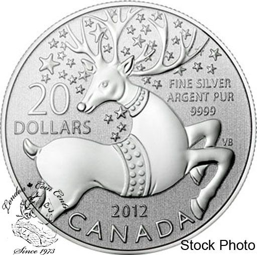 2012 Canada $20 Fine Silver Commemorative Coin Magical Reindeer