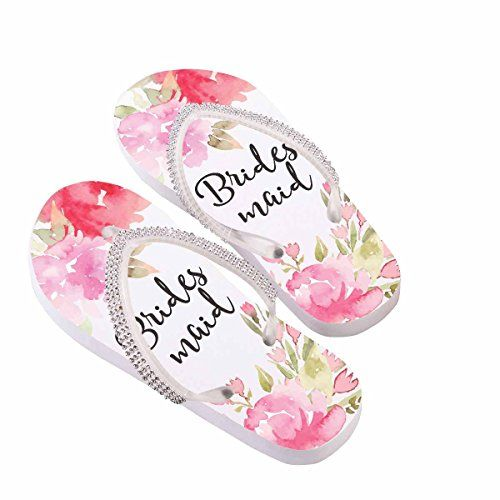 f504c86e2ae87a Lillian Rose AZ190001 SR Bridesmaid Small Flip Flops