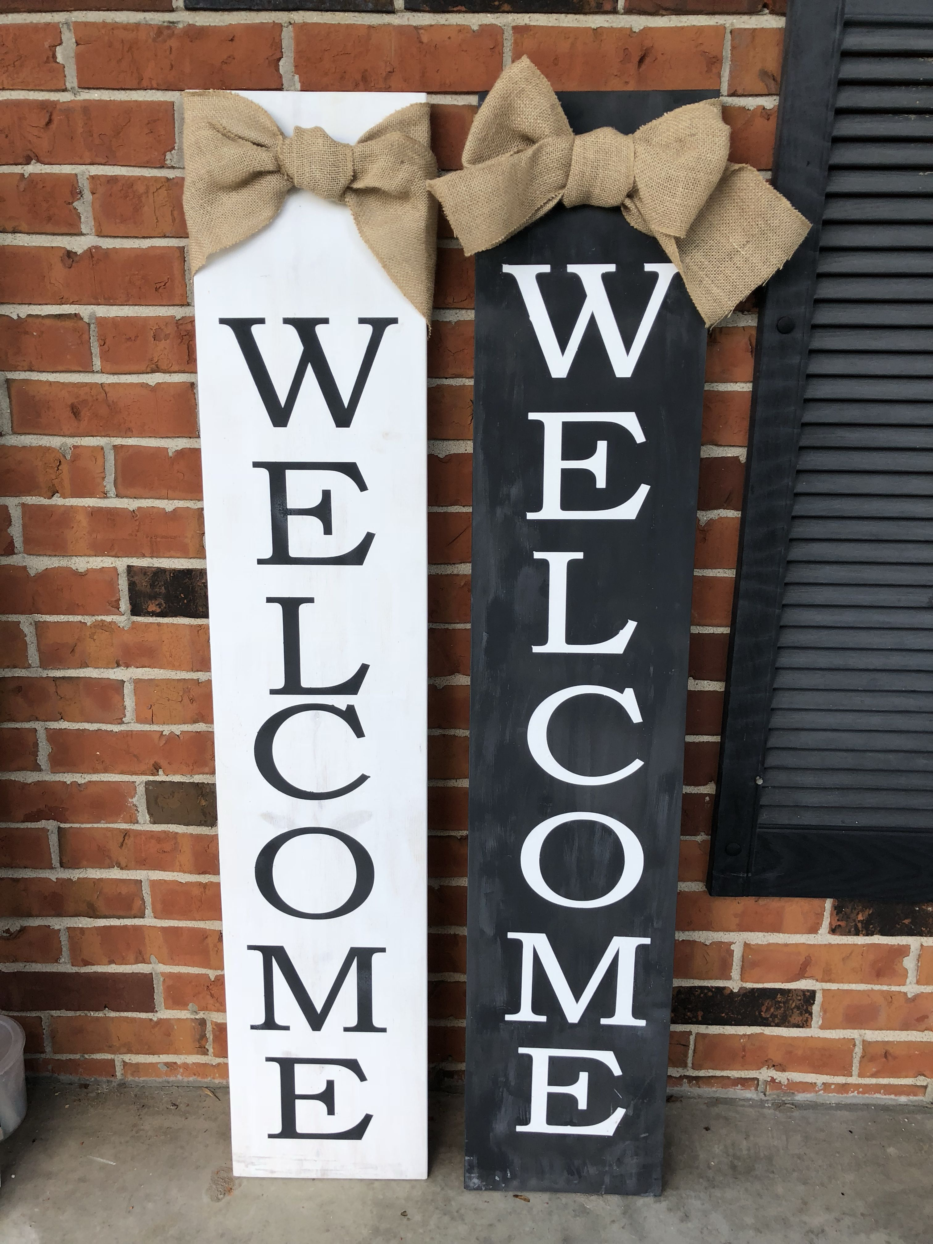 Welcome porch signs | Welcome signs front door, Wooden ...