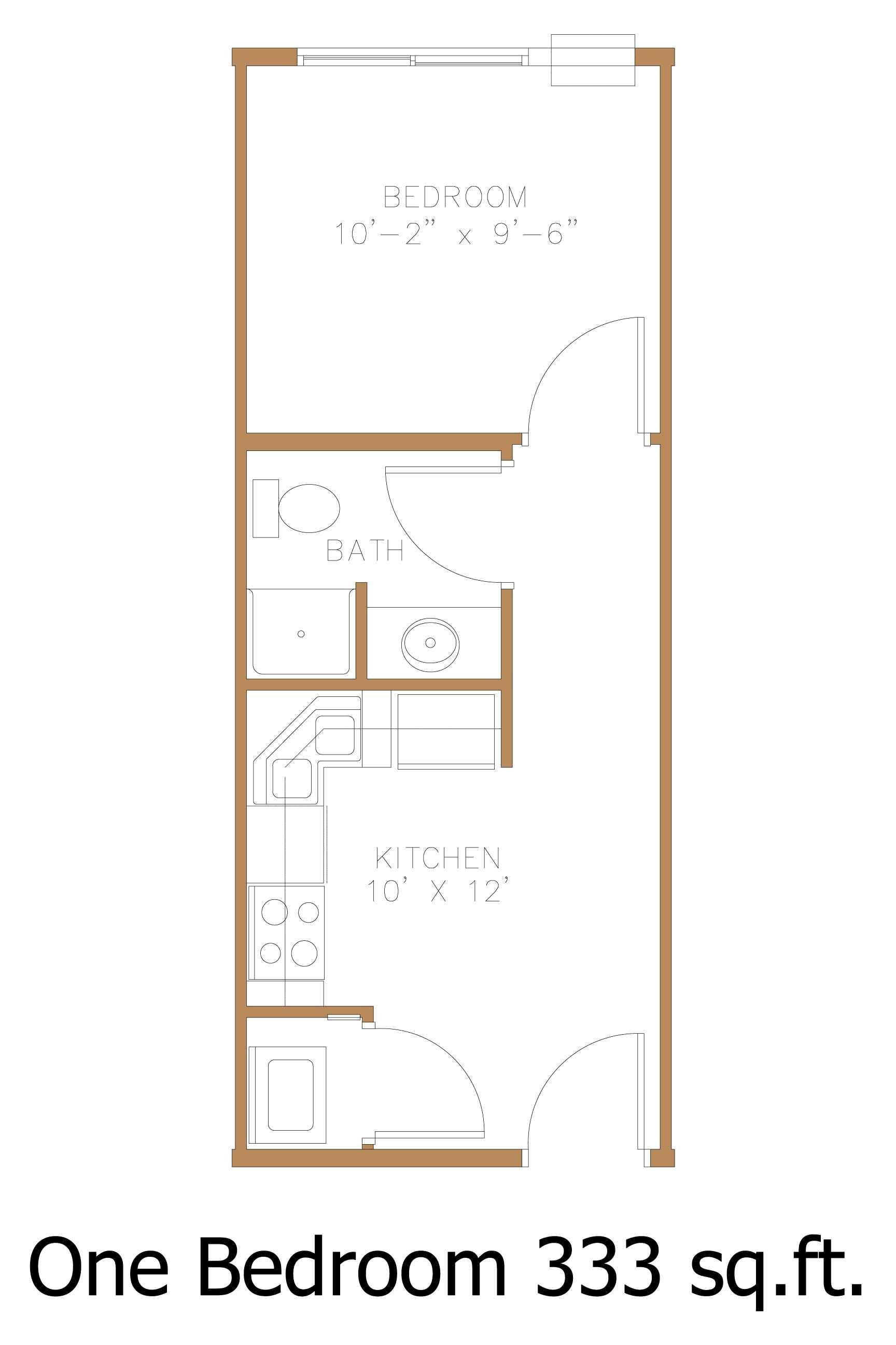 1 Bedroom Flat Layout