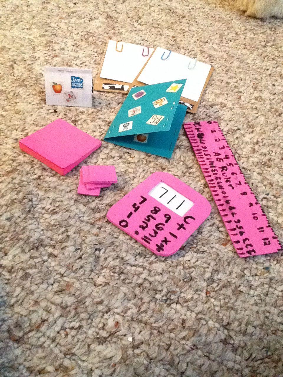 American girl doll school supplies | 18 inch doll stuff | Pinterest ...