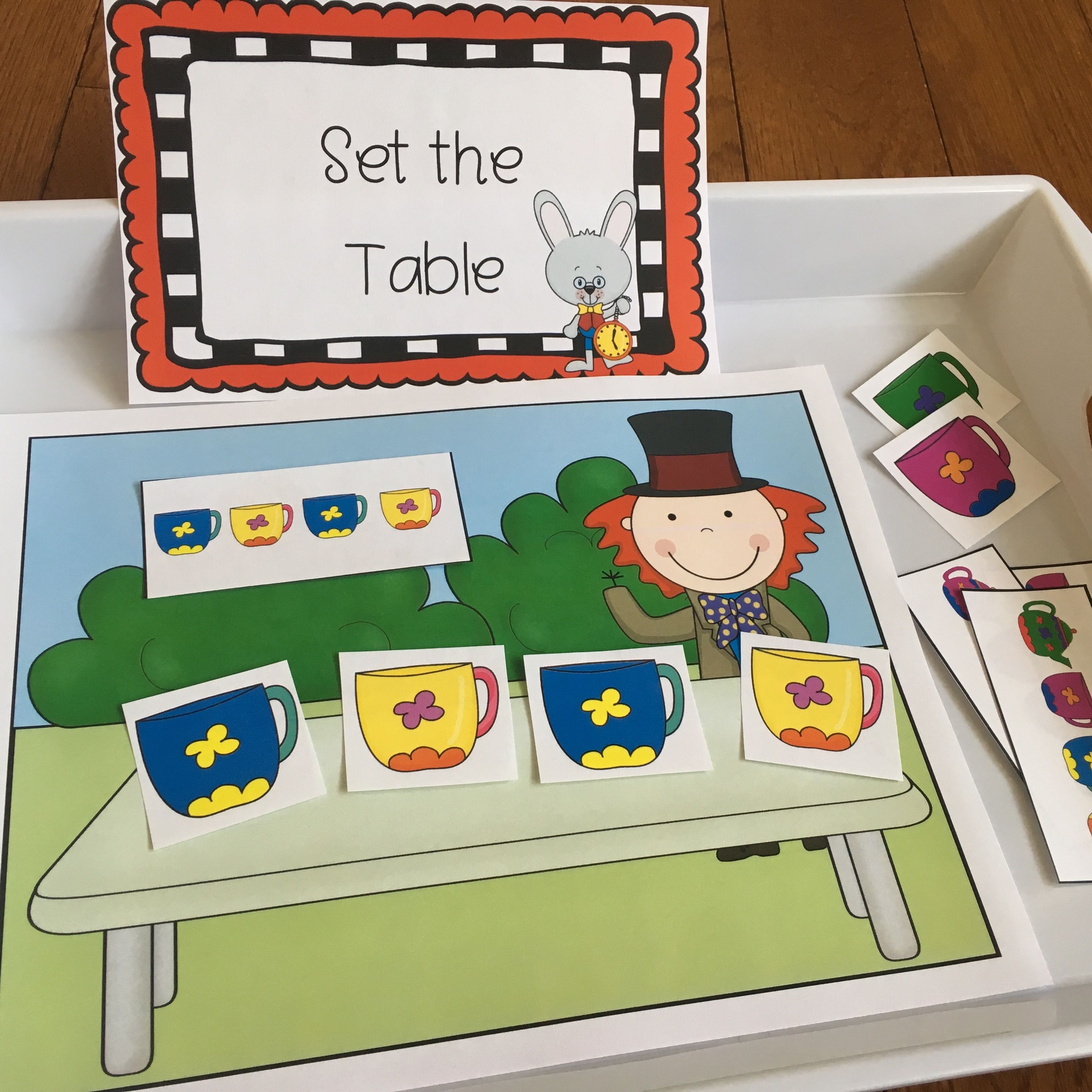 Preschool Unit Lesson Plans Center Activities Alice In