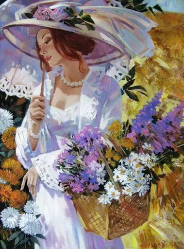 Parasol and flowers