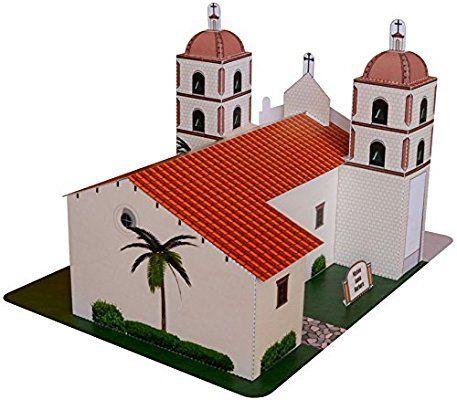 California Mission Santa Barbara Large Model Jul
