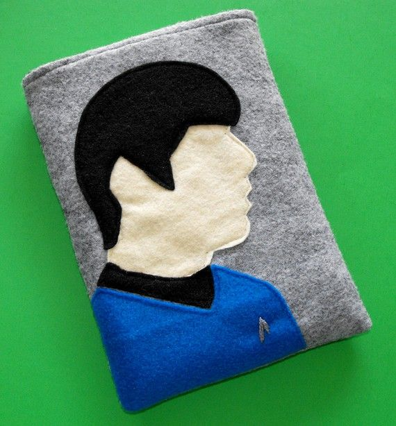 Ereader Spock Inspired Case Fits Kindle Nook Kobo Sony Galaxy Tab And More Felt Case Handmade Inspiration