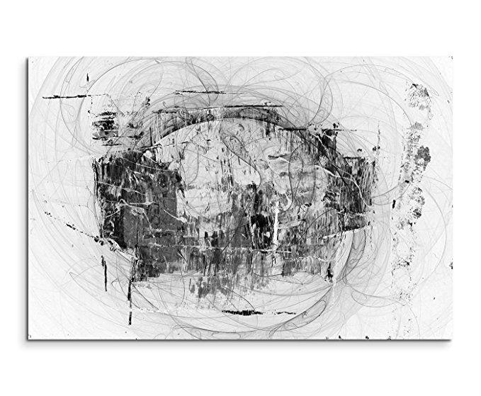 Sinus Art Abstrakt 1436-120x80cm SCHWARZ-WEISS Bilder - Bilder - wohnzimmer bilder abstrakt