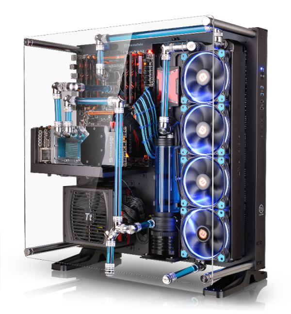 Mount Your Pc To The Wall With Thermaltake S Core P5 Atx Case Custom Pc Custom Computer Computer Case