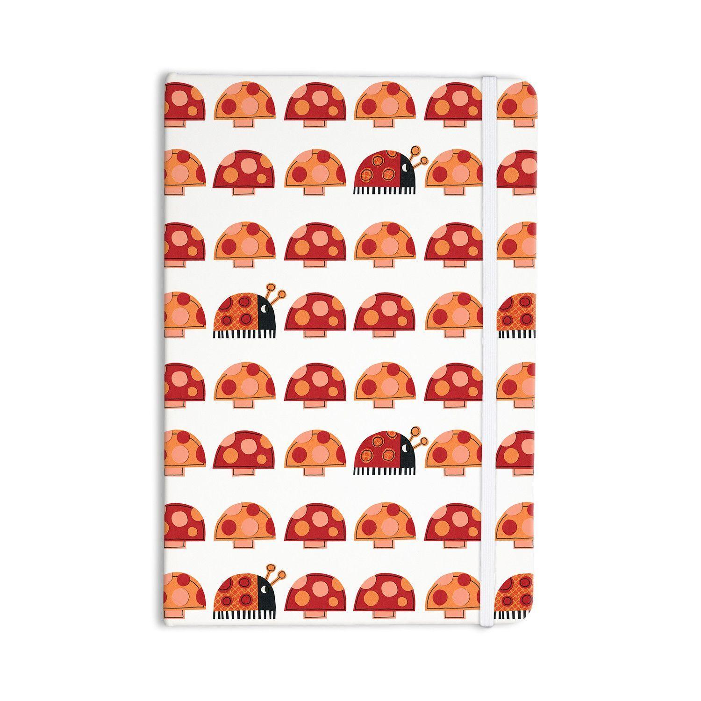 """Jane Smith """"Garden Ladybugs"""" Orange Red Everything Notebook"""