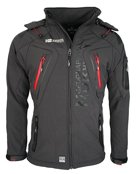 Geographical Norway Hombre Softshell Funciones Chaqueta Para Exterior  impermeable - gris oscuro 3cfa46c24835
