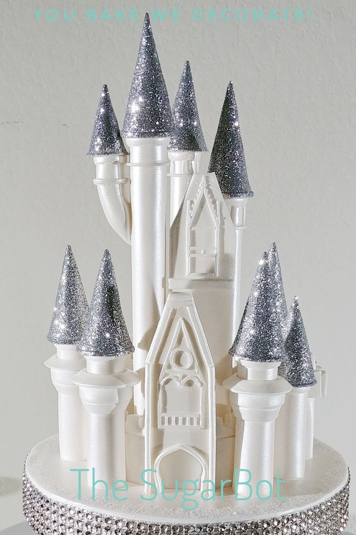 Disney cinderella castle cake topper handmade and shipped