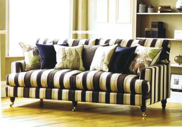 Sofa Striped Fabric Google Search House Designs Couch