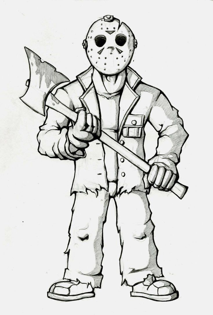 Jason Coloring Page Cartoon Coloring Pages Sketches Halloween Coloring