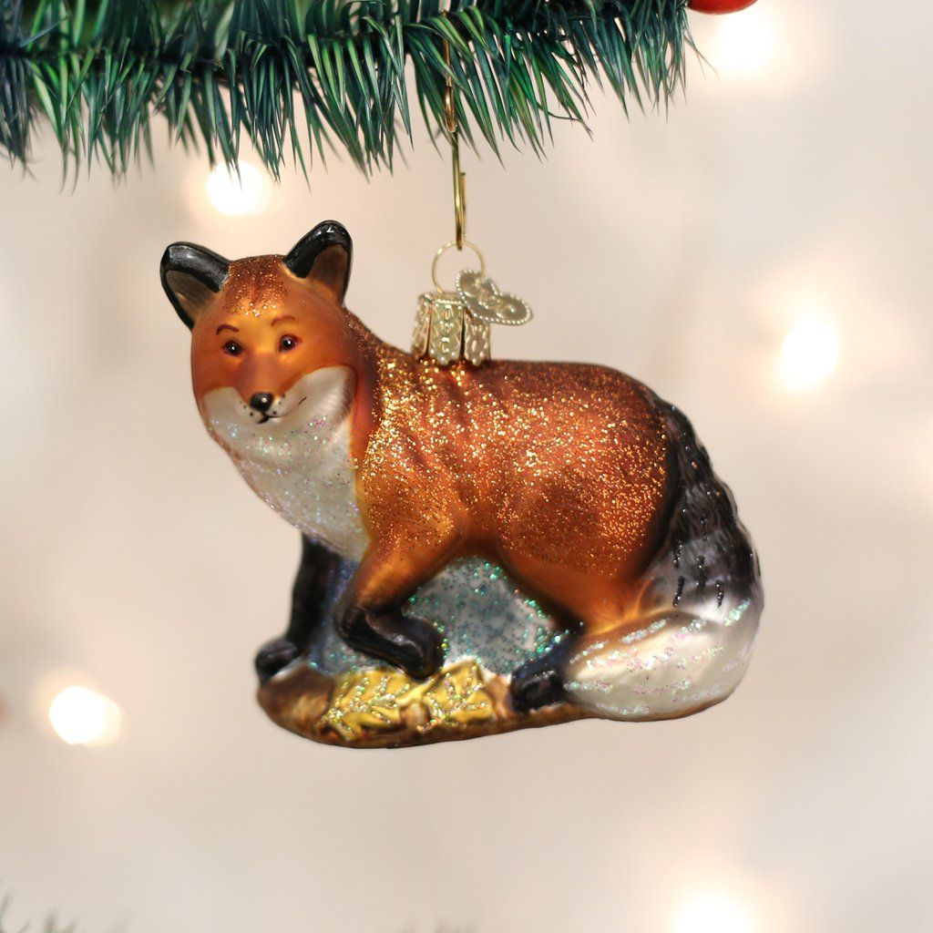 Red Fox Ornament | Fox ornaments, Old world christmas, Old ...