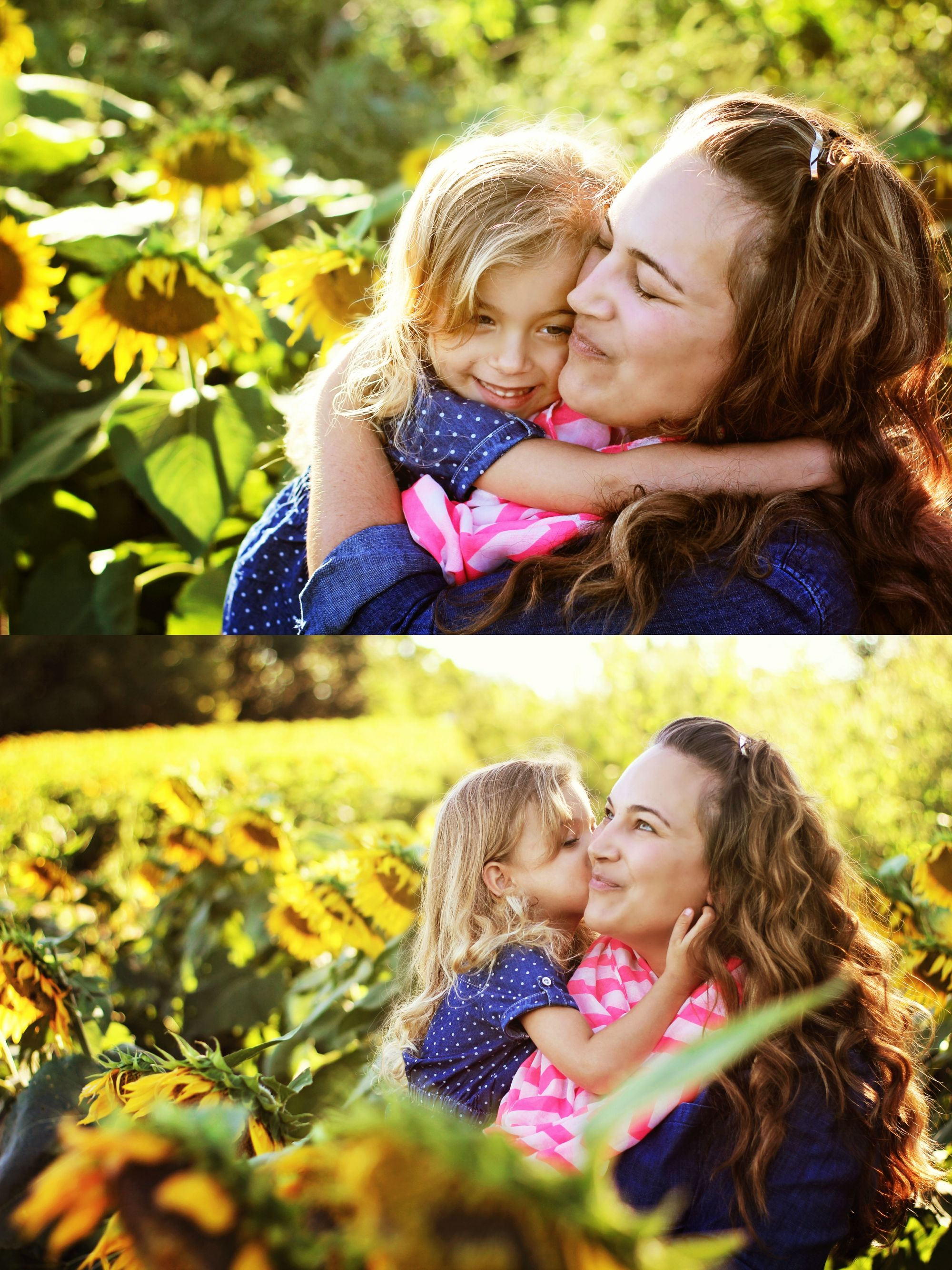 Sunflower Field Photography | Mother and daughter photo ...