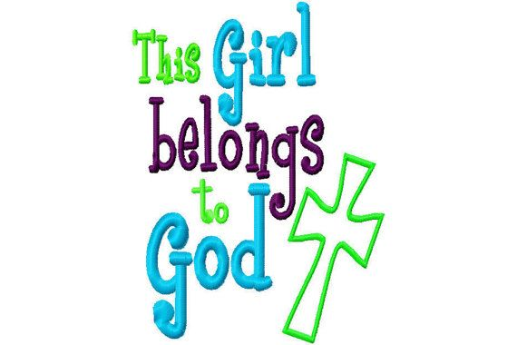 This Girl Belongs to God Cross Applique by SewSpoiledBoutique