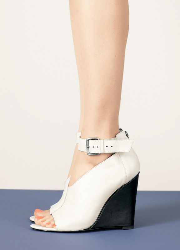 Step It Up: To ground pastels, brights and pretty much anything else, just reach for this white-hot Trouvé wedge.