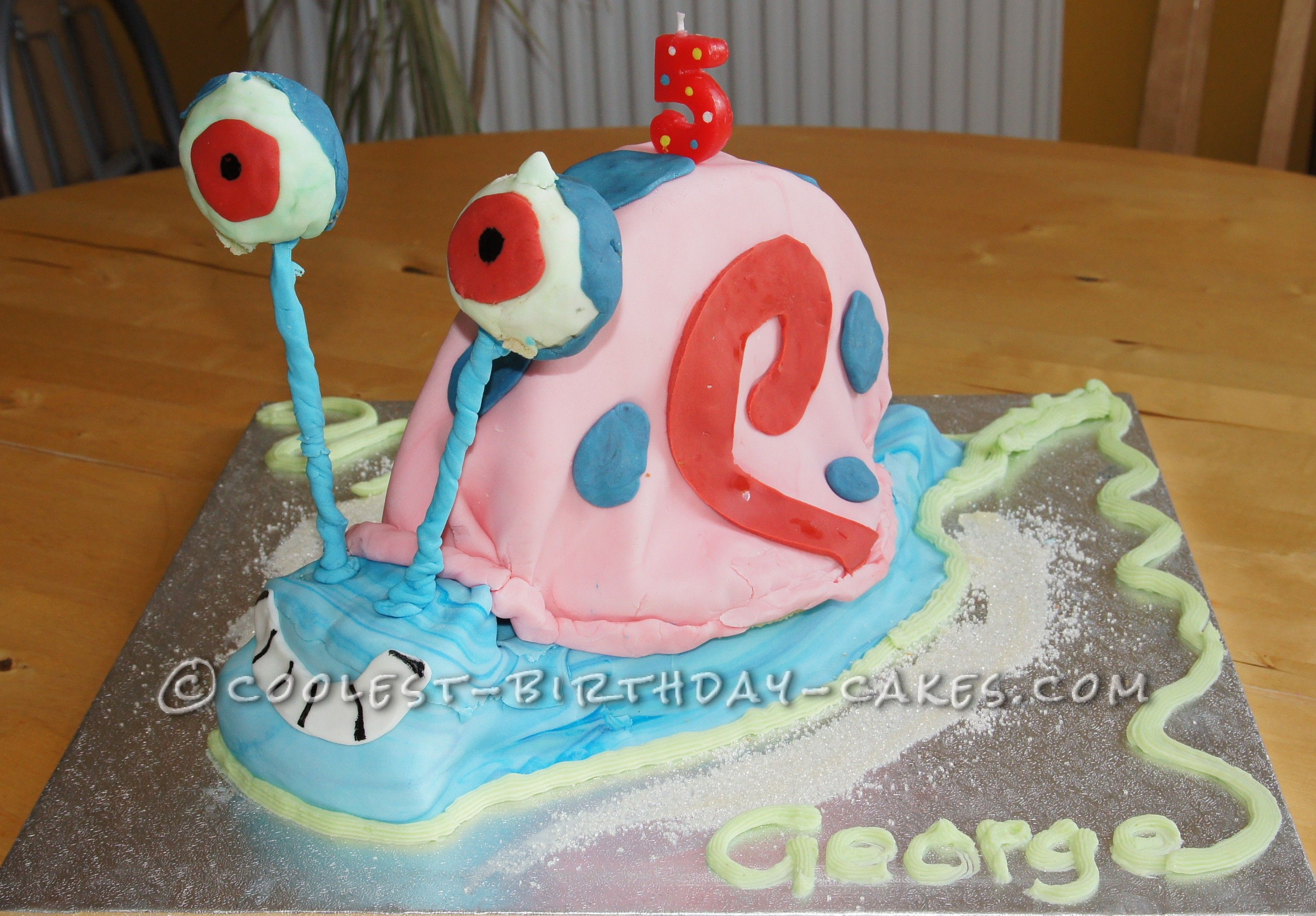 Coolest Gary The Snail Cake For A Spongebob Party Coolest Birthday