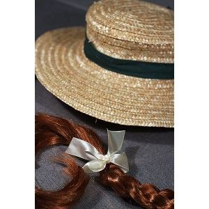 The Anne of Green Gables Hat With Braids will help transform you into Anne - be it for play time, reenacting scenes from Anne of Green Gables at home, or for a costume party.  You'll look absolutely delightful as Anne, with her recognizable red braids.The Anne of Green Gables Hat With Braids is an authentic, sturdy straw hat with curly bangs and two long red braids. It's perfect for dress-up or even decorating your wall. The size is suitable for wearing by children and young adults. US$15.99