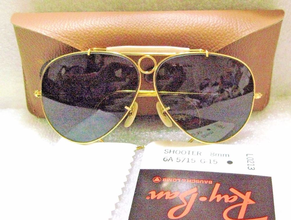 cdfe71a005 NEW RAY - BAN By Bausch   Lomb AVIATO R 8mm Bullet Hole Shooter L0213.  SUNGLASSES With Original RB B L Shooter s Case
