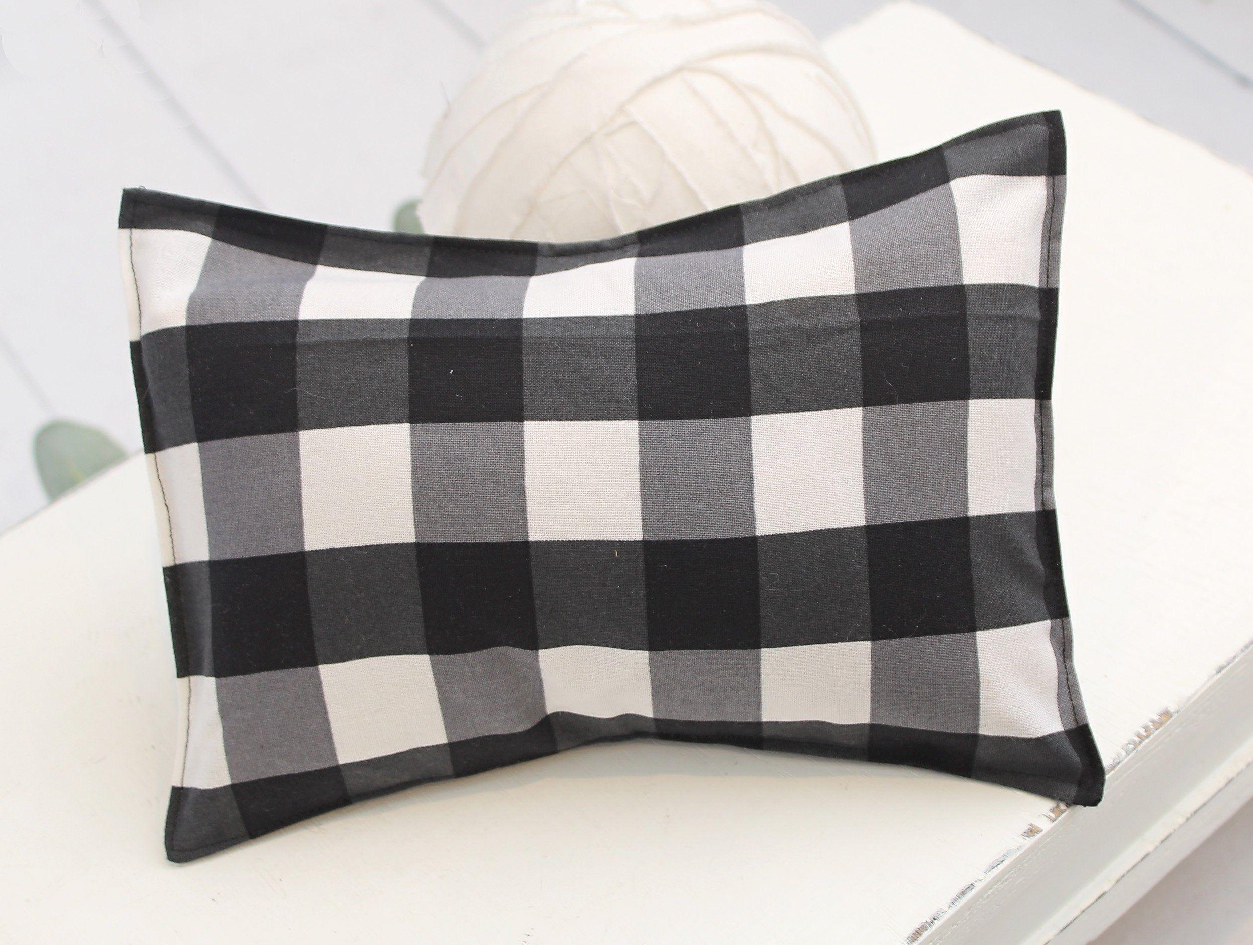 Checks Balances Newborn Pillow Sham In A Black And White Buffalo Plaid Gingham Check Cotton Rts In 2020 Newborn Pillow Pillow Shams Sham