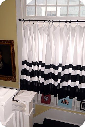 The Modern Cottage: March 2011; shower curtain turned cafe curtain.