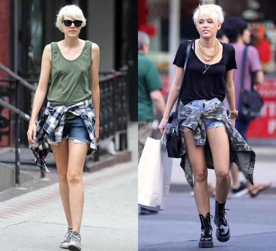 świetne dopasowanie całkiem miło super tanie Miley Cyrus Wears Agyness Deyn For Dr. Martens Bag AND Boots ...