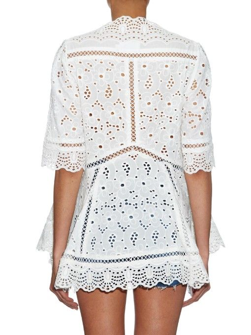Zimmermann Hyper Eyelet broderie-anglaise top | My Style ...