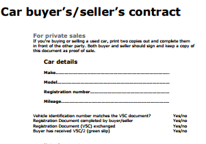 Private Car Sale Contract Template Contract Template Receipt Template Contract